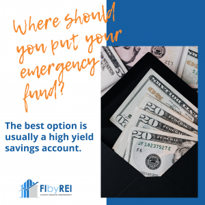Where should you put an emergency fund