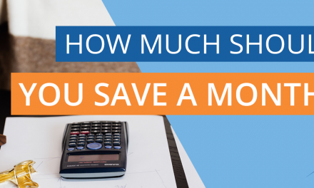 How much should you save a month