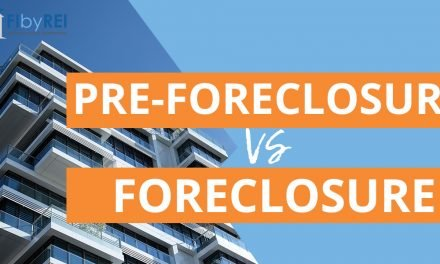 What is the difference between pre-foreclosure and foreclosure?