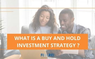 What is a 'buy and hold' investment strategy?